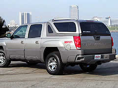 Chevrolet Avalanche with a cap