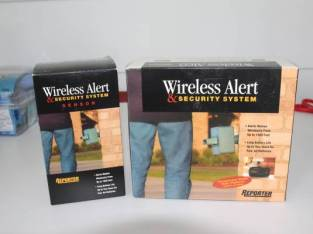 Wireless Alert and Sercurity System with extra sensor (Glenville) $90