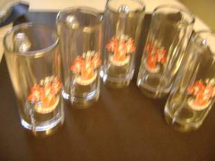 Beer Mugs (lot of 5) – Beck's Beer (Ballston Spa/Malta) $10