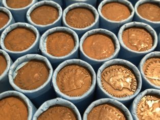 INDIAN HEAD PENNIES OLD CENTS PENNY LOT ROLL COLLECTION ESTATE SALE HOARD MONEY!