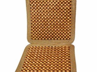 Zone Tech Natural Wooden Beaded Massage Seat Cushion Car Home Chair Cover Tan