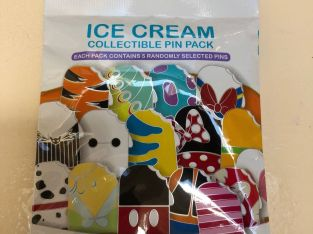 Disney * ICE CREAM * New & Sealed * 5-pin Collectible Mystery Pin Pack