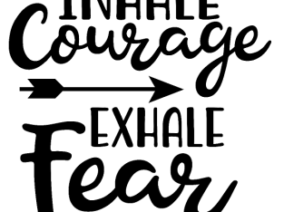 Inhale Courage Exhale Fear Arrow Vinyl Decal Sticker Home Wall Cup Decor