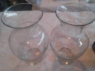 Vases – Clear Glass  (lot of 3) (Ballston Spa) $3