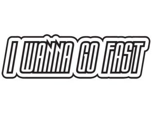 I WANNA GO FAST FUNNY QUOTE RACE CAR DRIFT WINDOW VINYL DECAL STICKER (I-1)