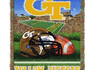 "Georgia Tech NCAA College ""Home Field Advantage"" 48×60 Tapestry Throw"