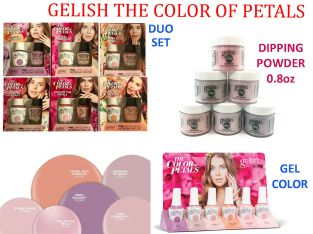 GELISH The Color of Petals COLLECTION DUO SET of GEL+LAC & Dipping Powder 0.8oz