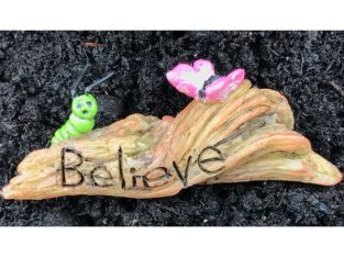 Miniature Dollhouse FAIRY GARDEN – Believe in Change – Accessories