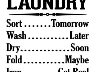 Laundry Schedule Vinyl Decal Sticker Home Wall Decor Choose Size Color