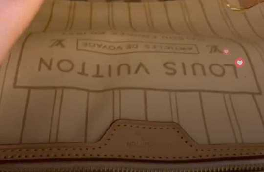 Brown Designer Bag with coin purse LV Style