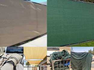 USED FENCE PRIVACY COVERING