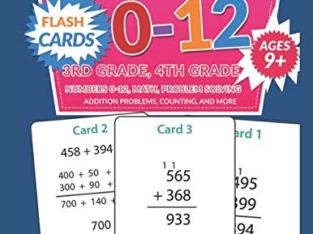 Addition 0-12 Flash Cards – Ages 9 and Up