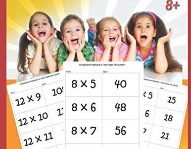 Multiplication 0-12 Flash Cards – Ages 8+
