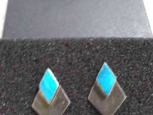 authentic silver and turquoise pierced earrings