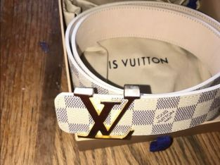 White authentic Louis Vuitton Belt