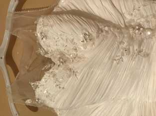 white wedding dress size 12