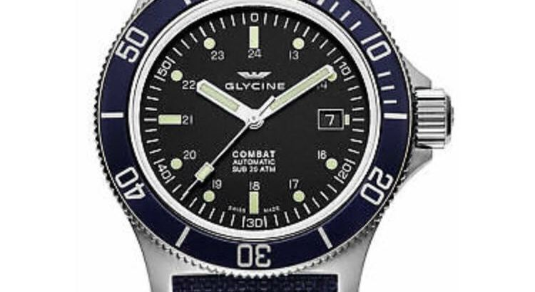 Glycine Men's 3908.191.BD1.TBA8 Combat Sub Automatic 42mm Black Dial – GL0094