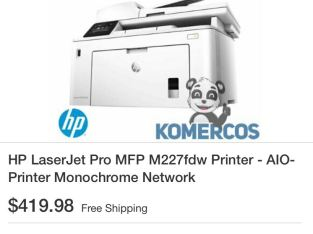 hp laser copier does everything 227 only been used ones