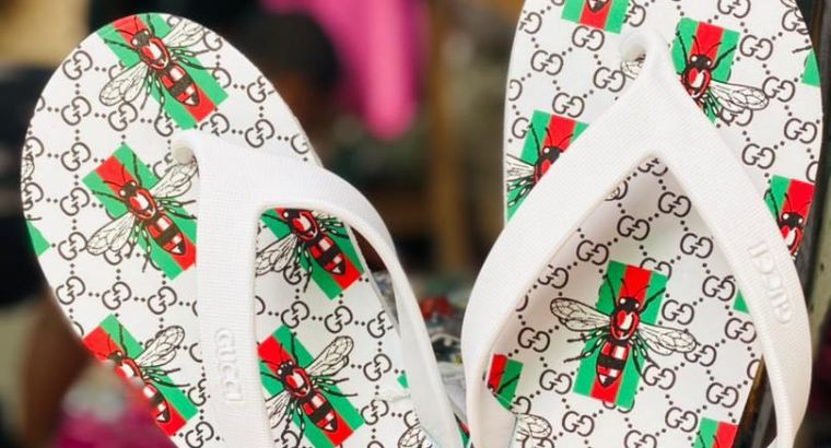 Gucci palm slippers