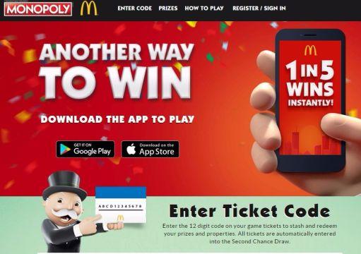mcdonalds gewinnspiel code