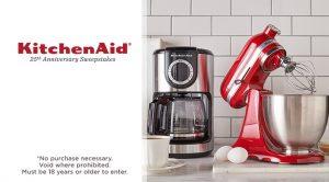 QVC KitchenAid 25th Anniversary Sweepstakes - Win Grand Prizes on qvc vitamix, qvc shopping, qvc tupperware, qvc lg, qvc kitchenware, qvc blendtec, qvc canon, qvc lenox, qvc stand mixers whisk,