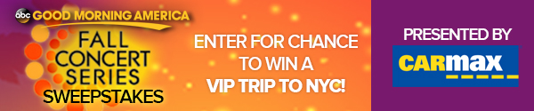 Good morning america fall concert series sweepstakes