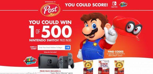 Post Sweepstakes Nintendo Switch