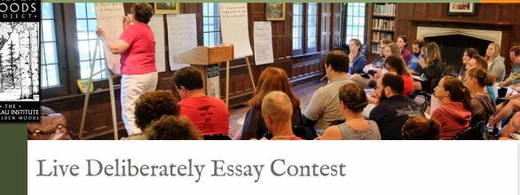 Live Deliberately Essay Contest