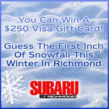Richmond First Snowfall Contest