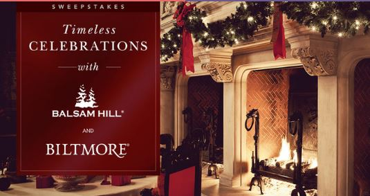 Balsam Hill Biltmore Timeless Celebrations Sweepstakes