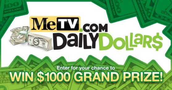 MeTV.com Daily Dollar$ Sweepstakes