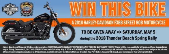 PCB Harley-Davidson Street Bob Rally Motorcycle Giveaway