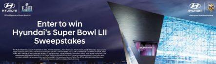Hyundai Super Bowl LII Sweepstakes