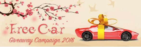 Car From Japan Giveaway Campaign