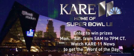 Kare11 Home of Super Bowl LII Contest
