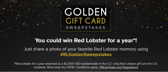 Red Lobster Golden Gift Card Sweepstakes