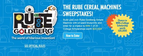 Rube Cereal Machines Sweepstakes