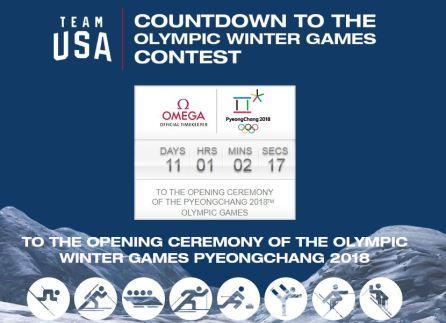 Team USA Countdown to Winter Olympics Sweepstakes
