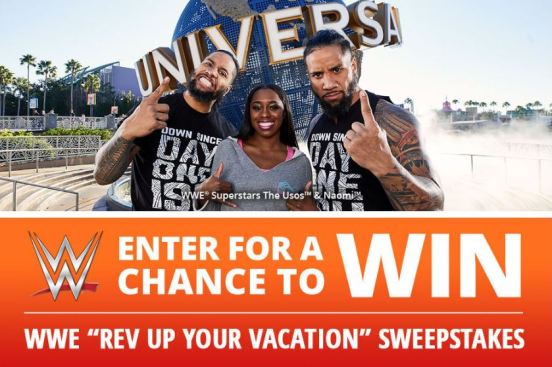WWE Universal Orlando Rev Up Your Vacation Sweepstakes