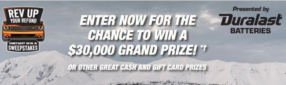 AutoZone Rev Up Your Refund Instant Win Game