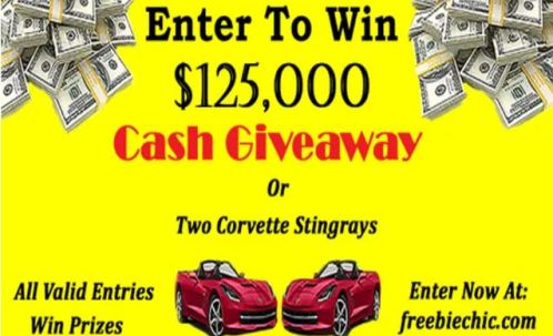 Corvette Stingrays and Cash Giveaway
