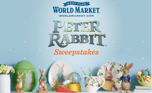 Cost Plus World Market Peter Rabbit Sweepstakes