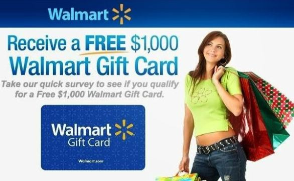 How to win a walmart 1000 gift card