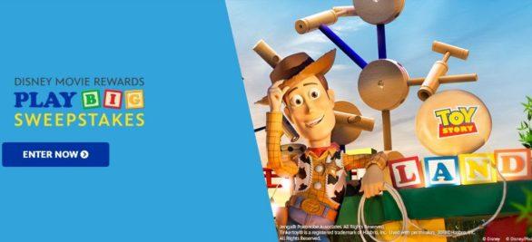 DISNEY Movie Rewards PLAY BIG Sweepstakes