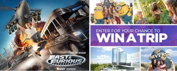 Bravo Universal Orlando Fast & Furious Sweepstakes