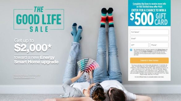 Clayton Homes Good Life Sale Sweepstakes