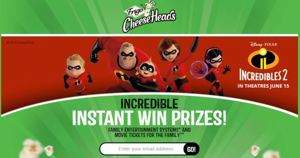 Frigo Cheese Heads Incredible Instant Win Game