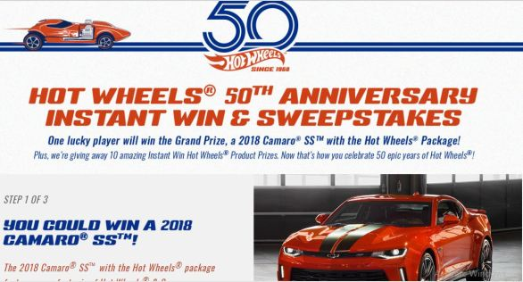 Hot Wheels 50th Anniversary Sweepstakes