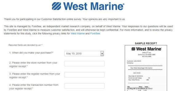 West Marine Customer Satisfaction Survey
