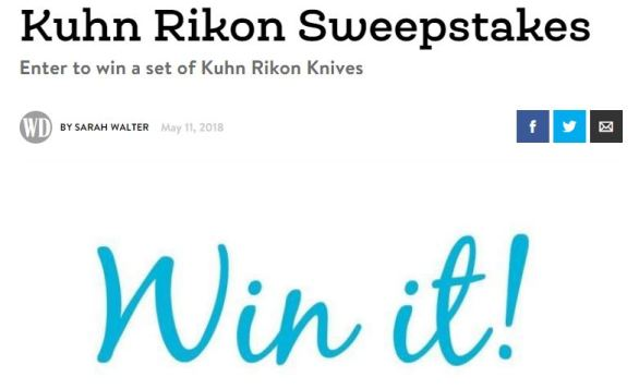 Woman's Day Kuhn Rikon Sweepstakes